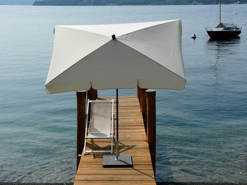 parasol rectangulaire inclinable parasol droit