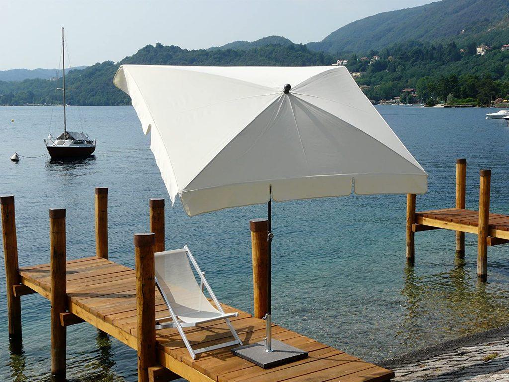parasol rectangulaire inclinable équipement durable