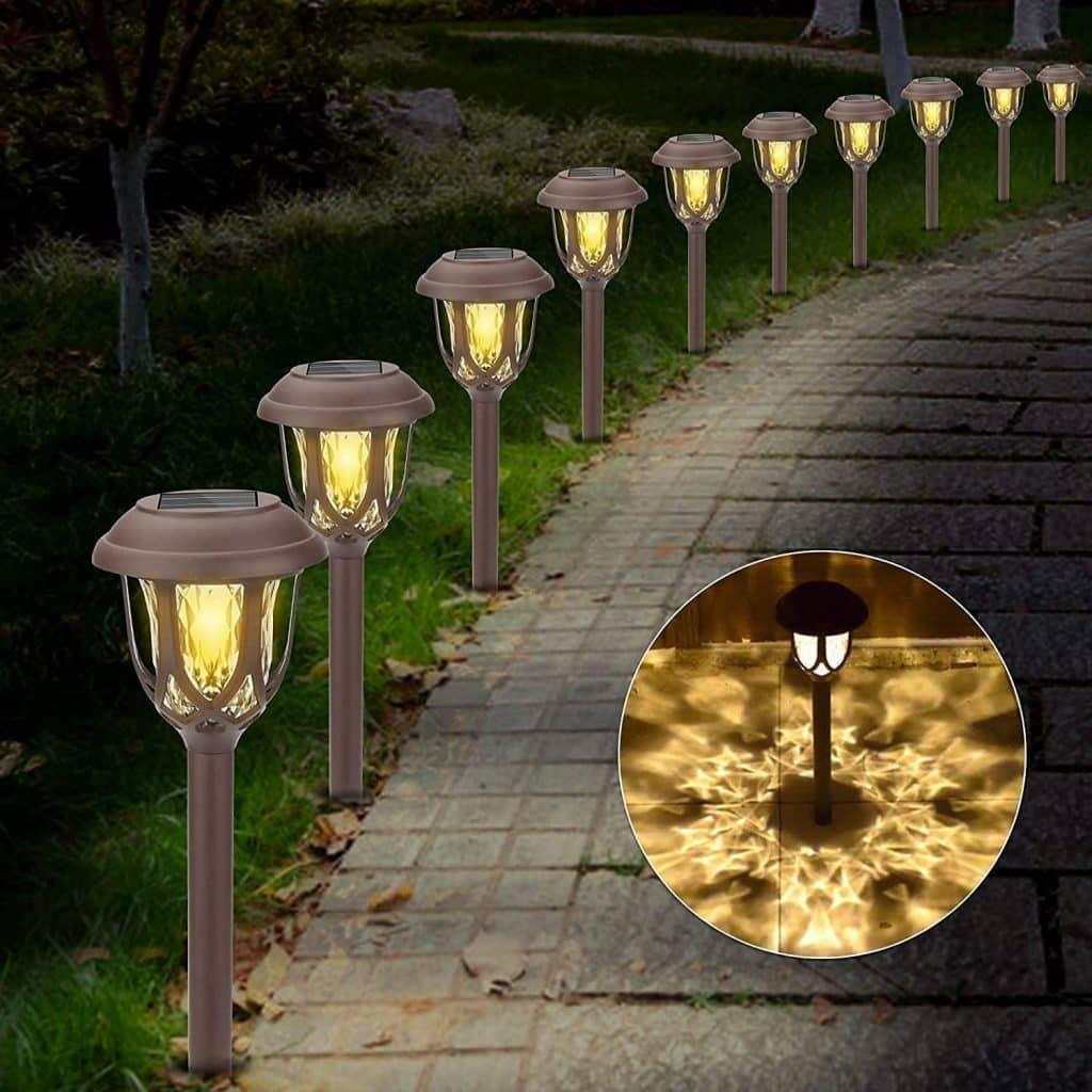 lampes solaires de jardin puissance d'éclairage