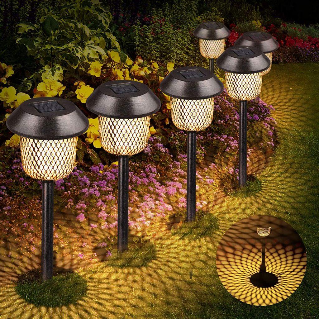 lampes solaires de jardin esthétique