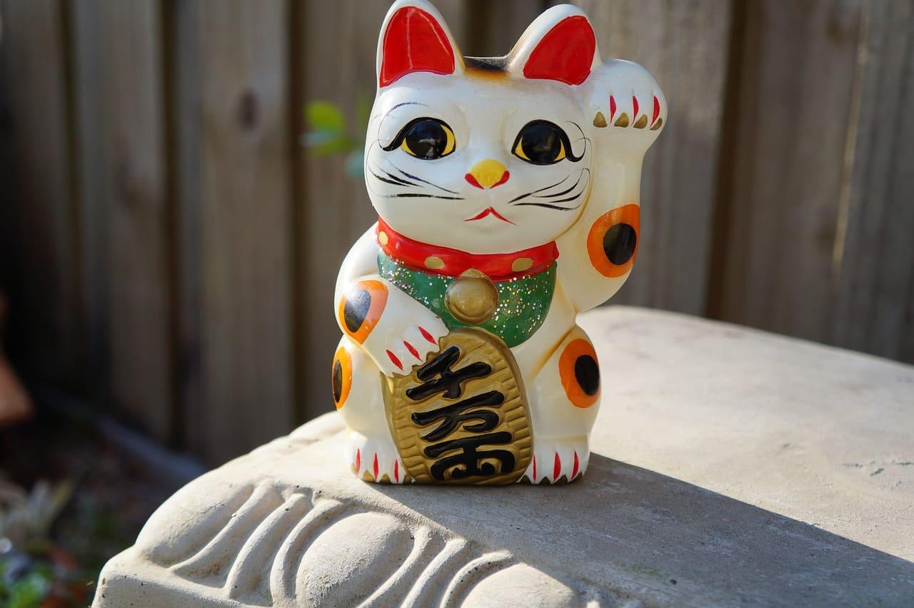 chat porte-bonheur originaire du Japon