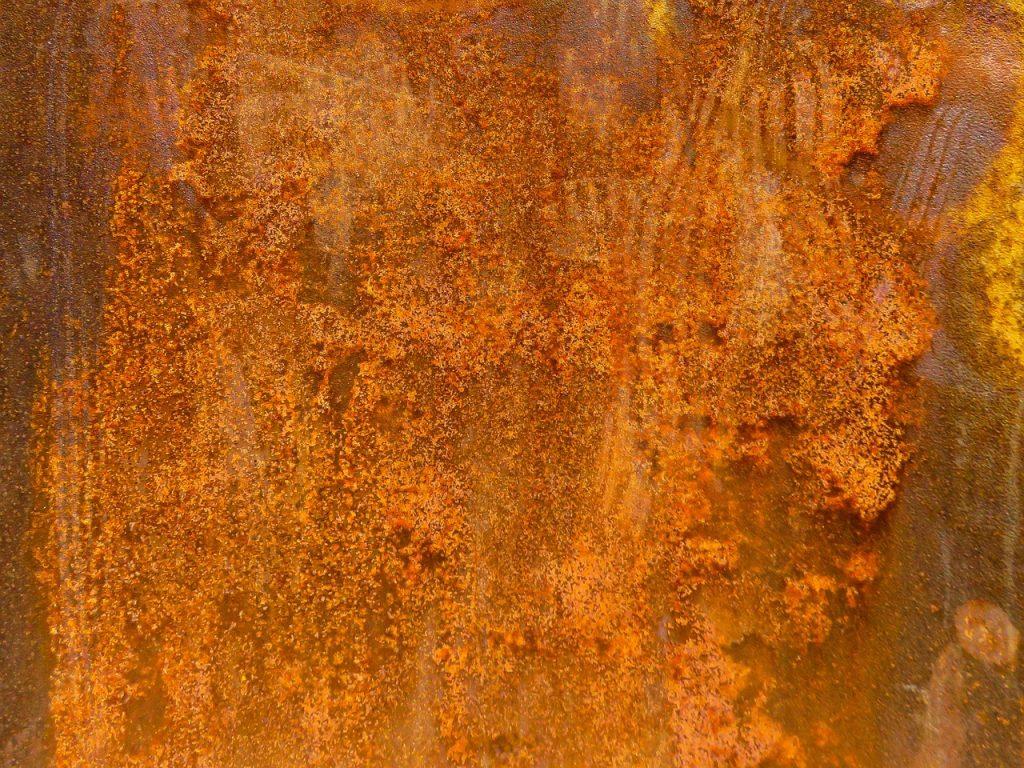 aches de rouille ou de sulfure métallique d'où ça vient