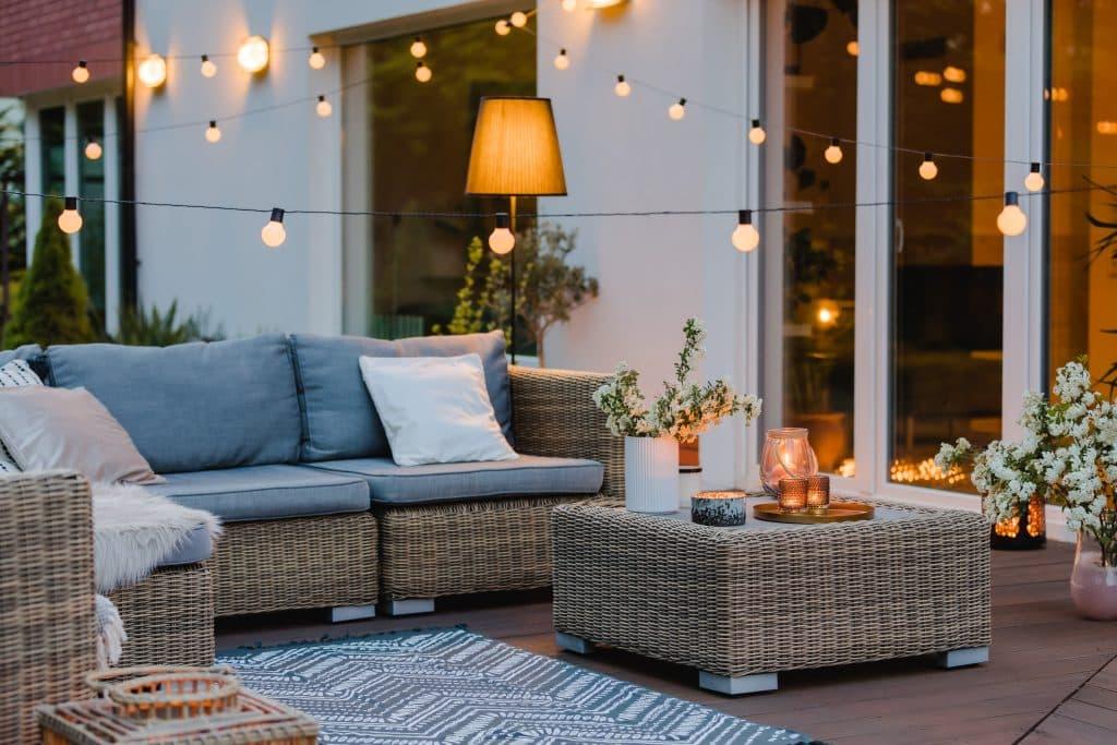 différents modèles d'éclairage de terrasse