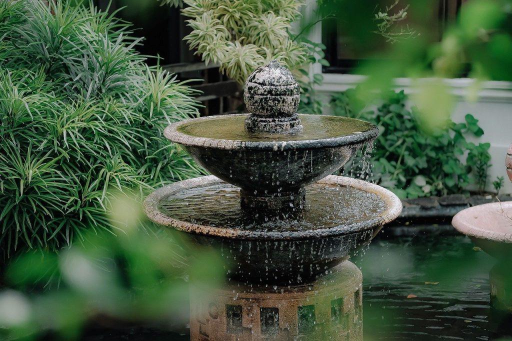 fabriquer une fontaine de jardin choix des matériaux
