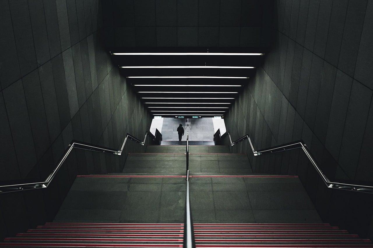 Peindre une cage d'escalier